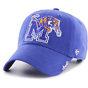 '47 Women's Memphis Tigers Blue Sparkle Clean Up Adjustable Hat