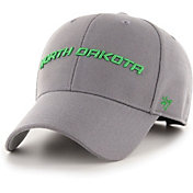 '47 Men's North Dakota Fighting Hawks Grey Script MVP Adjustable Hat