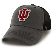 '47 Men's Indiana Hoosiers Grey Blue Mountain Closer Fitted Hat