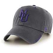 '47 Men's Northwestern Wildcats Grey Ice Clean Up Adjustable Hat