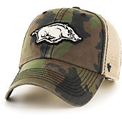 '47 Men's Arkansas Razorbacks Camo Burnett Clean Up Adjustable Hat