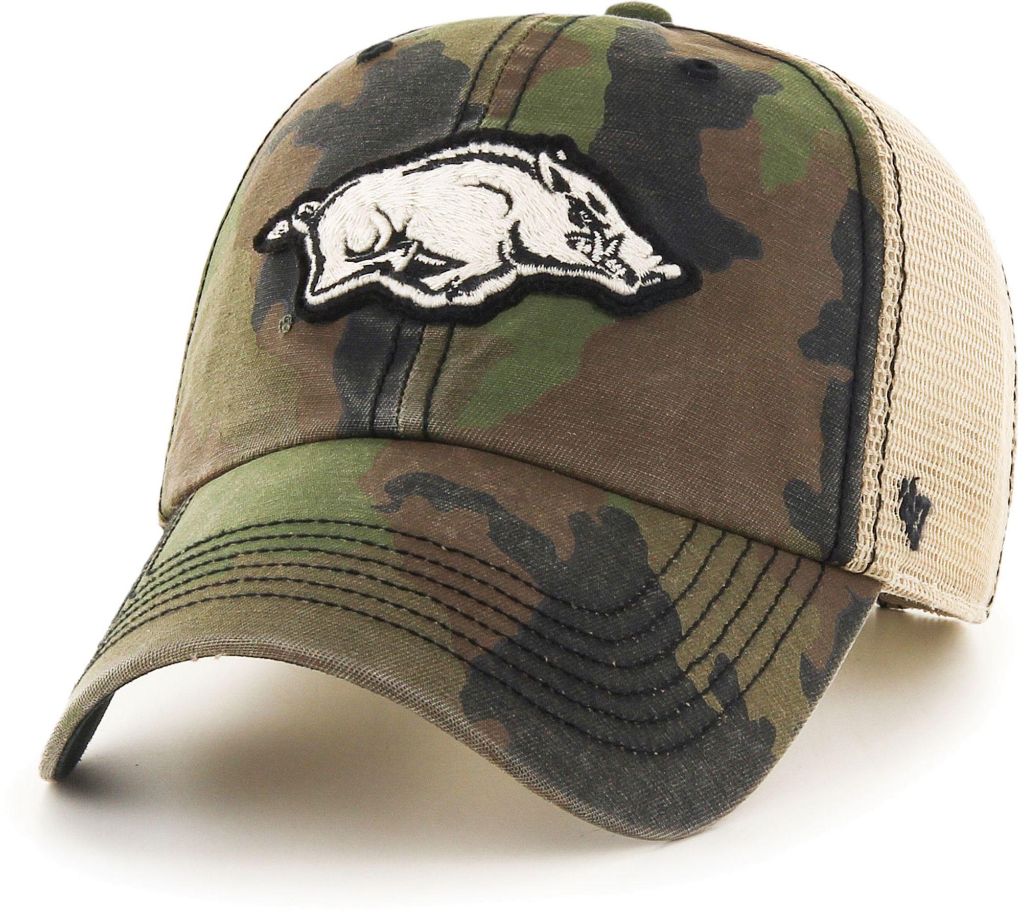'47 Men's Arkansas Razorbacks Camo Burnett Clean Up Adjustable Hat, Size: One size, Green thumbnail