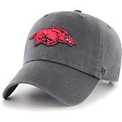 '47 Men's Arkansas Razorbacks Grey Clean Up Adjustable Hat