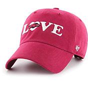 '47 Women's Arkansas Razorbacks Cardinal Love Script Clean Up Adjustable Hat