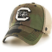 '47 Men's South Carolina Gamecocks Camo Burnett Clean Up Adjustable Hat