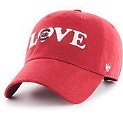 '47 Women's Arkansas Razorbacks Cardinal Love Script Clean Up Adjustable Hat