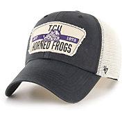 '47 Men's TCU Horned Frogs Crawford Clean Up Adjustable Black Hat