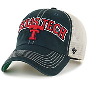 '47 Men's Texas Tech Red Raiders Tuscaloosa Clean Up Adjustable Black Hat