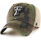 '47 Men's Texas Tech Red Raiders Camo Burnett Clean Up Adjustable Hat