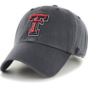 '47 Men's Texas Tech Red Raiders Grey Clean Up Adjustable Hat