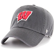 '47 Men's Wisconsin Badgers Grey Clean Up Adjustable Hat