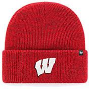'47 Men's Wisconsin Badgers Red Brain Freeze Cuffed Knit Beanie