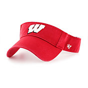 '47 Men's Wisconsin Badgers Red Clean Up Adjustable Visor