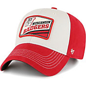 '47 Men's Wisconsin Badgers Red Upland MVP Adjustable Hat