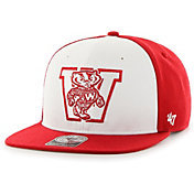 '47 Men's Wisconsin Badgers Red Sure Shot Captain Adjustable Hat