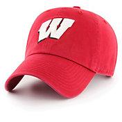 '47 Men's Wisconsin Badgers Red OTS Challenger Adjustable Hat