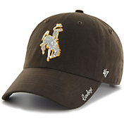 '47 Women's Wyoming Cowboys Brown Sparkle Clean Up Adjustable Hat