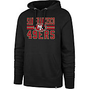 '47 Men's San Francisco 49ers Block Stripe Black Hoodie