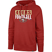'47 Men's San Francisco 49ers Blockout Headline Red Hoodie