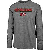 '47 Men's San Francisco 49ers Super Rival Grey Long Sleeve Shirt
