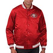 Starter Men's San Francisco 49ers Red Varsity Jacket