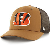 '47 x Carhartt Men's Cincinnati Bengals Brown Mesh MVP Adjustable Hat
