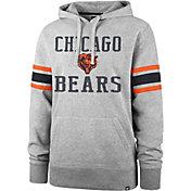'47 Men's Chicago Bears Double Sleeve-Stripe Grey Hoodie