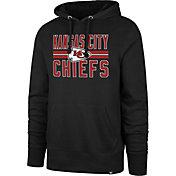 '47 Men's Kansas City Chiefs Block Stripe Black Hoodie