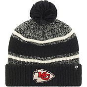 '47 Men's Kansas City Chiefs Fairfax Black Cuffed Pom Knit