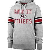 '47 Men's Kansas City Chiefs Double Sleeve-Stripe Grey Hoodie
