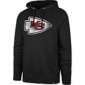 '47 Men's Kansas City Chiefs Logo Headline Black Hoodie