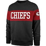 '47 Men's Kansas City Chiefs Interstate Crew Black Sweatshirt