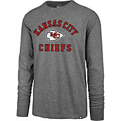 '47 Men's Kansas City Chiefs Arch Rival Grey Long Sleeve Shirt