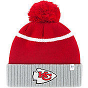'47 Men's Kansas City Chiefs Chop Block Red Cuffed Knit