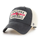 '47 Men's Arizona Cardinals Black Crawford Clean Up Adjustable Hat