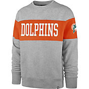 '47 Men's Miami Dolphins Interstate Crew Throwback Sweatshirt
