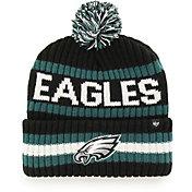 '47 Men's Philadelphia Eagles Bering Black Cuffed Knit Hat