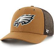 '47 x Carhartt Men's Philadelphia Eagles Brown Mesh MVP Adjustable Hat