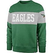 '47 Men's Philadelphia Eagles Interstate Crew Throwback Sweatshirt