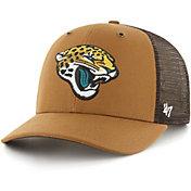 '47 x Carhartt Men's Jacksonville Jaguars Brown Mesh MVP Adjustable Hat