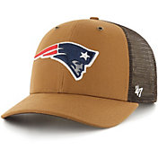 '47 x Carhartt Men's New England Patriots Brown Mesh MVP Adjustable Hat