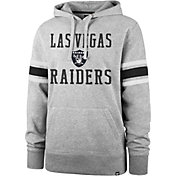 '47 Men's Las Vegas Raiders Double Sleeve-Stripe Grey Hoodie