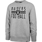 '47 Men's Las Vegas Raiders Stripe Headline Grey Crew