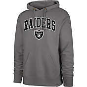 '47 Men's Las Vegas Raiders Striker Grey Grey Pullover Hoodie