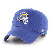 '47 Men's Los Angeles Rams Helmet Clean Up Royal Adjustable Hat