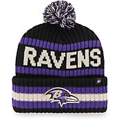 '47 Men's Baltimore Ravens Bering Black Cuffed Knit Hat