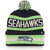 '47 Men's Seattle Seahawks Bering Navy Cuffed Knit Hat
