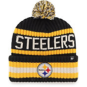 '47 Men's Pittsburgh Steelers Bering Black Cuffed Knit Hat