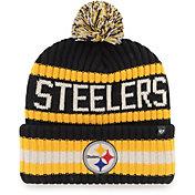 '47 Men's Pittsburgh Steelers Bering Black Cuffed Knit