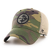 '47 Men's Pittsburgh Steelers Camo Branson MVP Adjustable Hat
